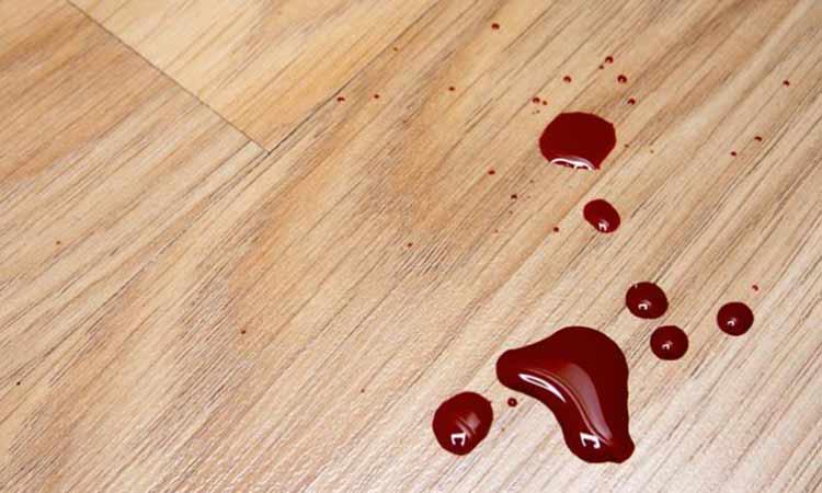 เลือดหยดบนพื้น